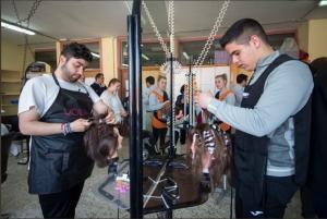 Alumnos practican en el centro Aynadamar.