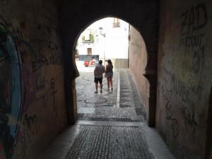 Arco de las pesas, antes de la instalación de las cámaras.