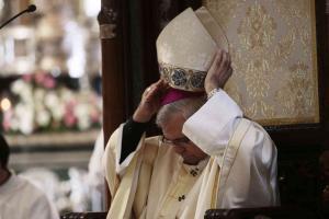 El arzobispo, en una ceremonia religiosa.