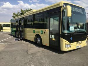 Uno de los autobuses que presta servicio en las líneas metropolitanas.