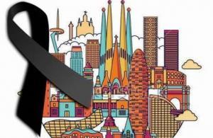 Imagen difundida en redes en solidaridad con Barcelona.