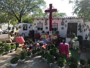 Instalación del Barrio de la Cruz.