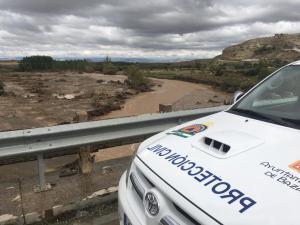 Lugar en el que se ha localizado el vehículo del fallecido, cuyo cuerpo ha sido encontrado casi a un kilómetro de distancia.