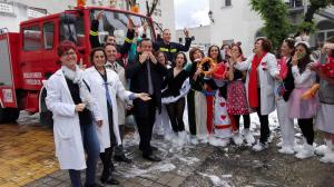 Bomberos de Granada se han sumado a la iniciativa por los niños y niñas hospitalizados.