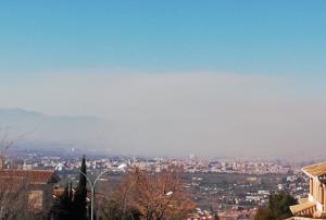 'Boina' de contaminación en Granada.
