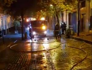 Intervención de los bomberos en San Juan de Letrán.