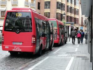 Autobuses que cubren las líneas con el Albaicín, la Alhambra y el Sacromonte.