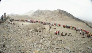 Imagen de la cadena humana celebrada este sábado.