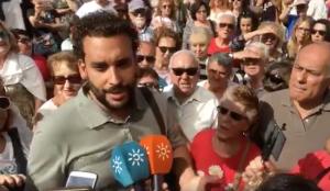 Jesús Candel, en una de las protestas contra la fusión hospitalaria.