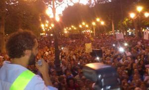 Jesús Candel, en su alocución a los asistentes a la concentración.