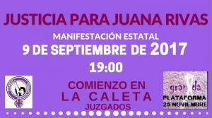 Detalle del cartel de la manifestación.
