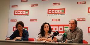 Representantes de un AMPA han denunciado junto a CCOO la situación.
