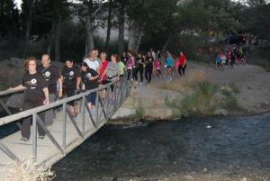 Participantes en la marcha familiar en una anterior edición.