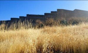Aspecto que presenta el entorno de la muralla en San Miguel Alto.