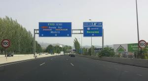Limitación a 100 km/h en la Circunvalación de Granada.