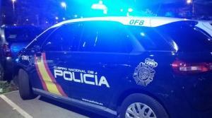 Coche policial, en Motril.
