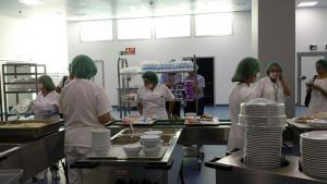 Cocina del Hospital Clínico en el PTS.