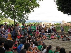 Imagen del acto en el Mirador de San Nicolás de este martes.