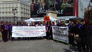 Concentración en la puerta del Sol, en Madrid, en apoyo a Juana Rivas.
