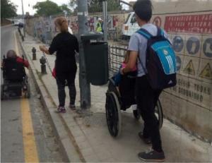 Imagen que constata las dificultades de tránsito por la zona.