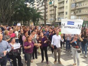 Concentración en las Explanadas de Motril contra la apertura de un Centro de Inmigrantes.