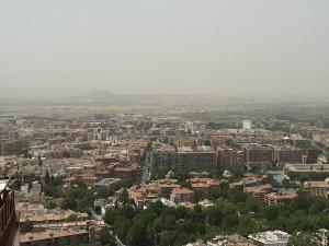 Boina de contaminación sobre Granada.