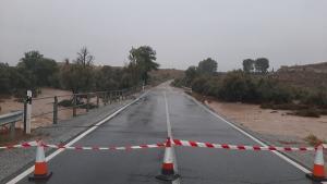 Imagen de la A4200 entre Baza y Benamaurel, una de las vías cortadas.