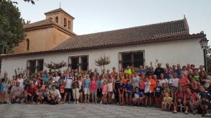 Participantes en una noche de senderismo en Cúllar Vega.