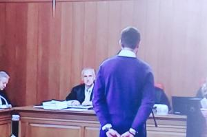 El joven denunciante, ante el tribunal.