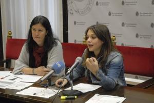La concejala Jemi Sánchez, este martes en rueda de prensa.