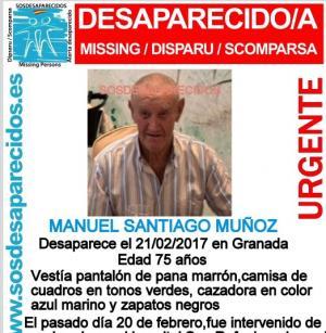 Ficha del desaparecido.