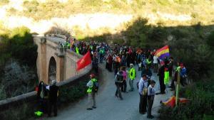 La marcha llegó este sábado a Almuñécar.