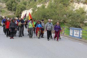 Llegada de la marcha a la provincia de Granada.