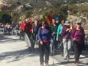 La marcha sigue su recorrido hacia Almería.