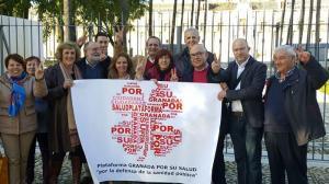 En el Parlamento Andaluz, exigiendo #doshospitalescompletos con participación, cartera de servicios diferenciadas y urgencias finalistas.