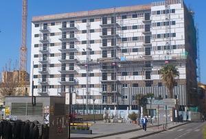 El nuevo edificio de Santa Adela, en una imagen de finales de febrero.