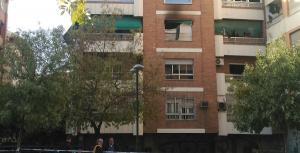 Edificio siniestrado en San Juan de Letrán.