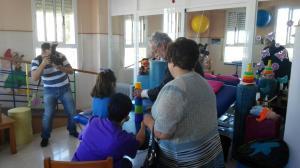 Maeztu, en la visita al colegio de Motril.