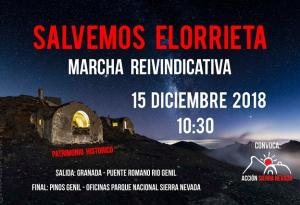 Cartel de la marcha organizada por Acción Sierra Nevada.