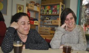 Carmen Ruiz y Kika Fumero, junto a Marian Ruiz, impulsoras del Observatorio.