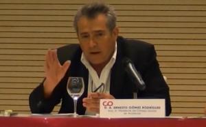 Ernesto Gómez durante su participación en unas jornadas de la Codapa.