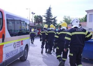 Voluntarios de Protección Civil de Albolote.