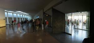Entrada de la estación de autobuses de Granada.