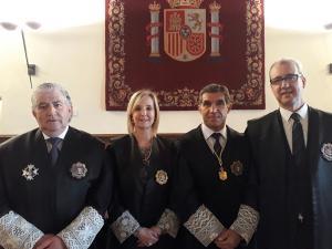 De izquierda a derecha, Rogelio Muñoz, Ana Tárrago, Lorenzo del Río y Pedro Jiménez.