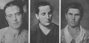 Tres mujeres rapadas por franquistas como represalia.