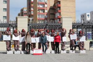 """Performance """"¡No te quedes de piedra! Muévete por la igualdad"""", de Acción en Red Andalucía."""