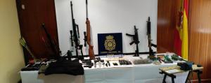 Imagen de las armas intervenidas.
