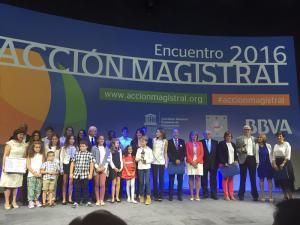 Foto de familia de la entrega de los premios este viernes en Madrid.