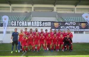 Imagen del `laureado` equipo de fútbol del Colegio de Abogados de Granada.