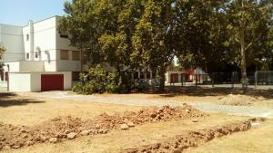 Obras del aparcamiento en la Escuela Oficial de Idiomas.